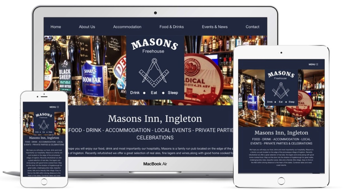 Pineapplelily Web design for pubs and restaurants in the Lake District in cumbria